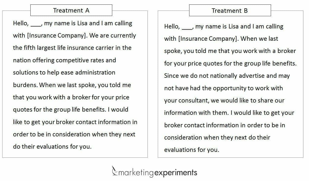 call-script-experiment