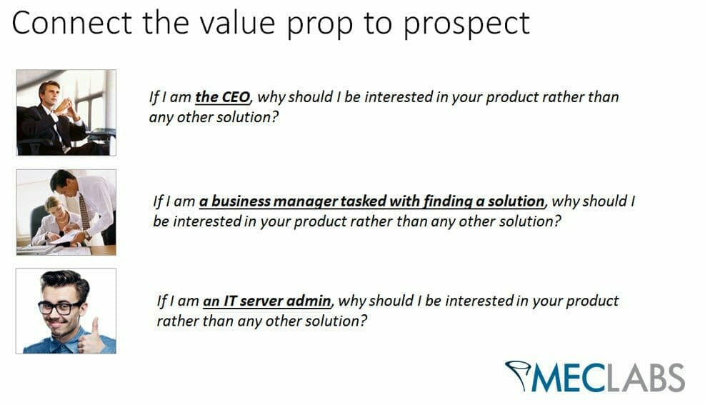 , 3 Factors that Connect Value Prop to Prospects
