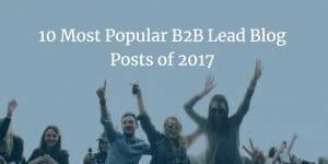 10 most popular B2B Lead Generation Posts