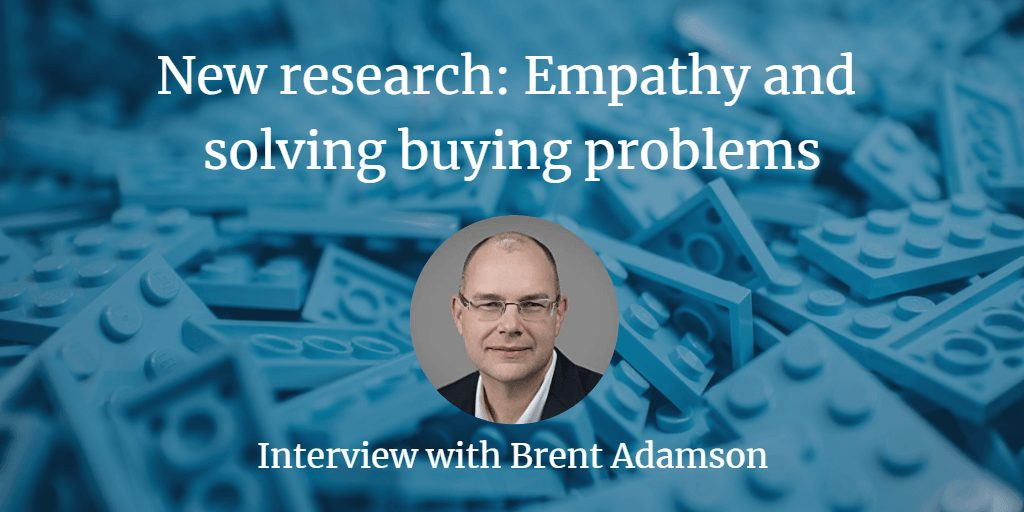 , New research: Empathy and solving buying problems
