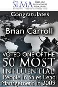 , 50 Most Influential People in Lead Management